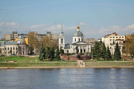 Church of Resurrection of Christ - Church of Three Confessors in Tver. Russia Standard-Bild