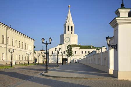 Spasskaya tower of Kazan Kremlin. Tatarstan, Russia