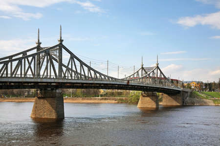 Starovolzhsky bridge in Tver. Russia