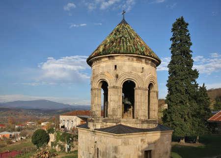 Bell tower at Gelati Monastery of Theotokos near Kutaisi. Imereti Province. Georgia Standard-Bild