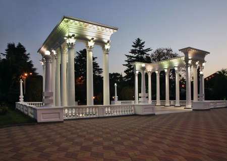 Colonnade at Seaside park in Batumi. Autonomous Republic of Adjara. Georgia