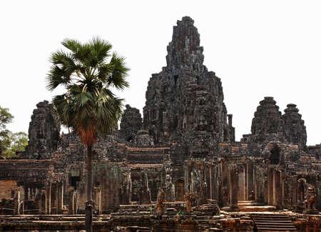 Prasat Bayon temple at Angkor Thom. Siem Reap province. Cambodia Standard-Bild