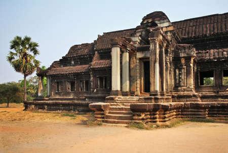 Library of Angkor Wat - Capital temple. Siem Reap province. Cambodia Standard-Bild