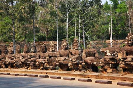 Way to Angkor Thom. Siem Reap province. Cambodia Standard-Bild