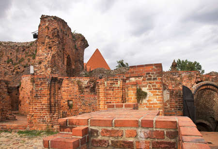 Ruins of teutonic castle in Torun. Poland