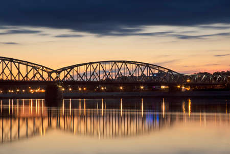 Jozef Piłsudski bridge in Torun. Poland