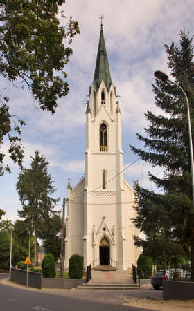 Church of St. Wojciech in Jablonowo Pomorskie. Poland Standard-Bild