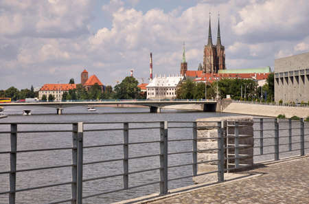 Frederic Joliot-Curie embankment in Wroclaw. Poland