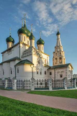 Church of Elijah Prophet in Yaroslavl. Russia Standard-Bild