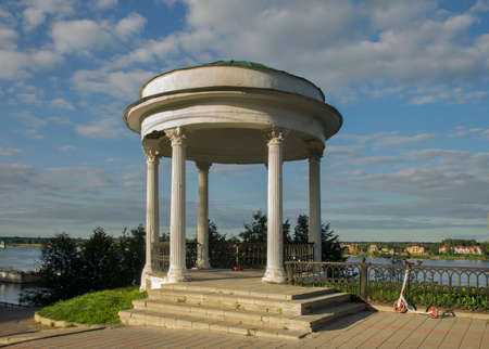 Pavilion of governor at Volzhskaya (Volga) embankment in Yaroslavl. Russia