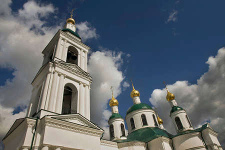 Church of Icon of Mother of God Feodorovskaya at Epiphany convent in Uglich. Russia Standard-Bild