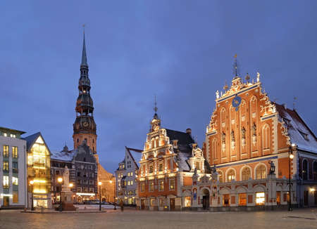 Town hall square in Riga. Latvia