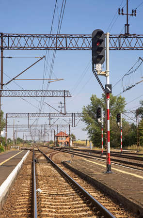 Railway station in Wabrzezno. Poland Standard-Bild