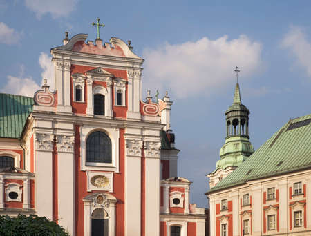 Collegiate church of Our Lady of Perpetual Help, Saint. Mary Magdalene and St. Stanisław Bishop (Poznan Fara) and Jesuits collegium in Poznan. Poland