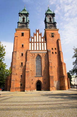 Cathedral of Saints Peter and Paul at Tumski island in Poznan. Poland