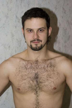 Desnudos hombre con pelo del pecho  Foto de archivo - 2028578