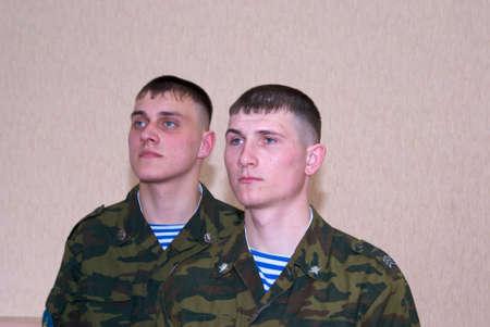 troops: Russian solder, paratrooper; airborne troops