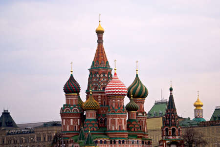 Saint Basil cathedral on the Red Square