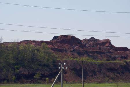 gravel pit: mine and rocks Stock Photo
