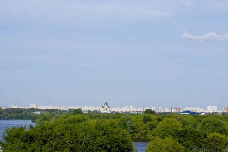 view of Moscow from hill photo