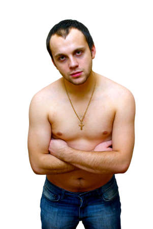 young man with nake chest stock photo picture and royalty free