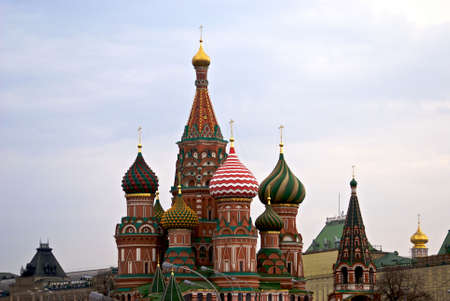 Saint Basil cathedral on the Red Square Stock Photo - 3448046