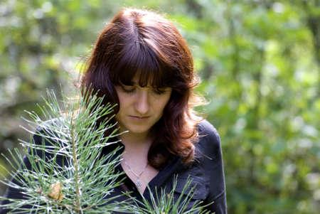 girl with pine photo