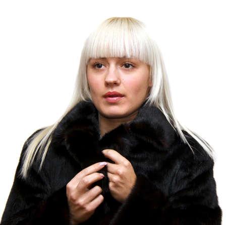 mink: donna in pelliccia di visone