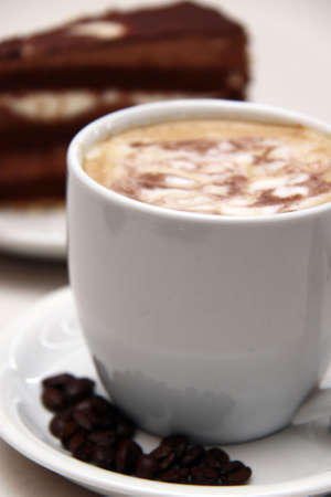 coffee and chocolate cake  photo