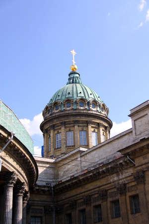 sobor: Kazan Cathedral or Kazanskiy Kafedralniy Sobor in Saint Petersburg  Stock Photo