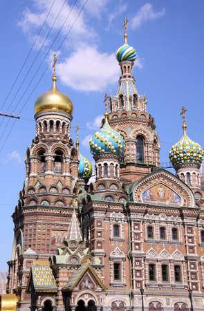 petersburg: Church of the Savior on Blood - very famous landmark in Saint Petersburg, Russia, Europe