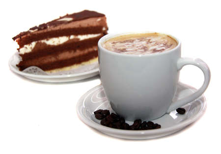 coffee and chocolate cake  photo