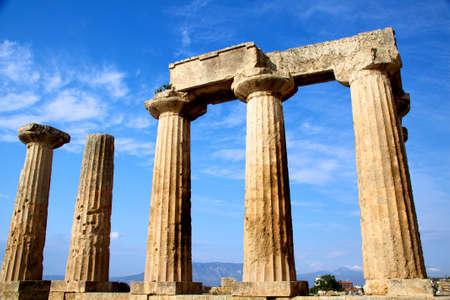 grecian: apollon temple in corinth Greece Stock Photo