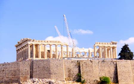 The Parthenon, in Athens Akropolis, Greece, EU photo