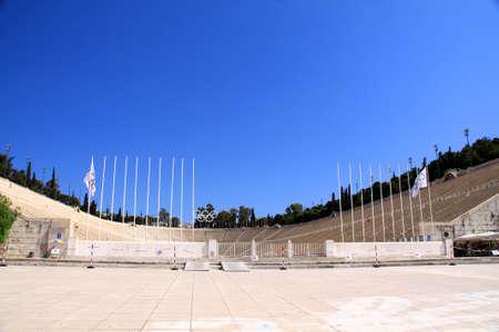 The panathenaic stadium in Athens, Greece photo