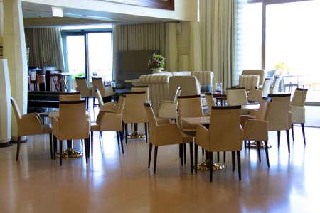 interior of modern nigt club or restaurant photo