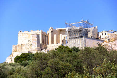 the famous parthenon monument of athens, greece photo