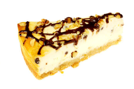 Cheesecake isolated on white background Stock Photo - 7748096