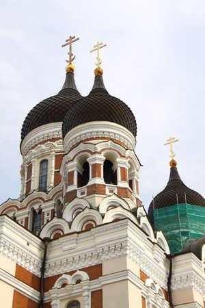 tallin: Alexander Nevsky Cathedral Orthodox in Tallin Stock Photo