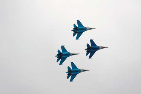 pilotage: Russian fighter in the sky on MAKS aviashow