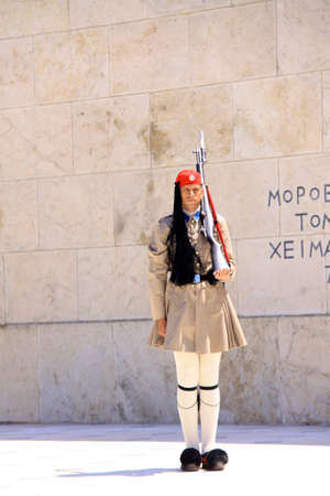 Changing the guards at the Greek Parliament-Athens
