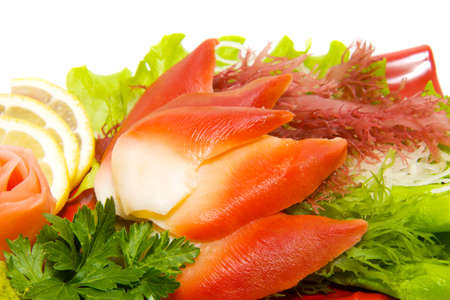 sashimi: delicious japanese sashimi  Stock Photo