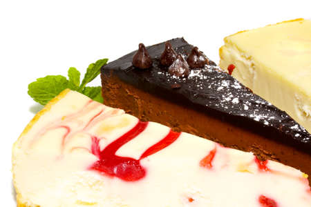 Dessert - Cheesecake with Green Mint Stock Photo - 8464855