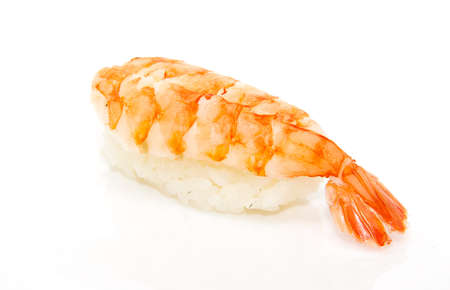 prawn: japan traditional food - sushi isolated