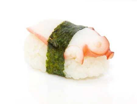 nigiri: japan traditional food - sushi isolated