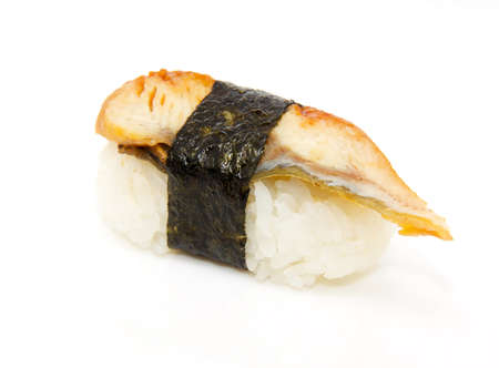 japan traditional food - sushi isolated Stock Photo - 8462641
