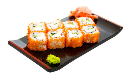 california roll:  japan trditional food - roll