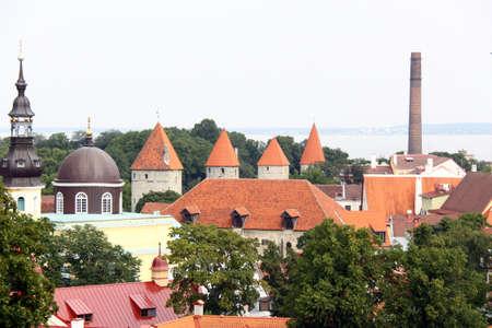 View on old city of Tallinn, Estonia EU Stock Photo - 8633401