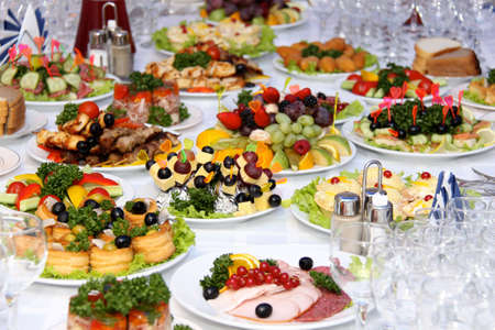 party food: fresh and tasty food on the table