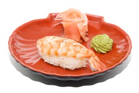 japan traditional food - sushi isolated photo
